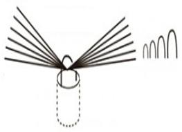 植え込みブラシの丸線イメージ図
